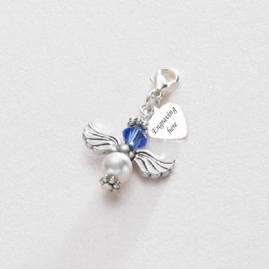 Personalised Birthstone Guardian Angel Charm | Someone Remembered
